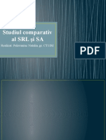 Studiul Comparativ Al SRL Și SA