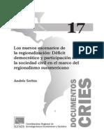 Nuevos Escenarios de la Regionalización