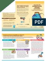 Folder - Guia Para Alimentação Segura Para Viajantes