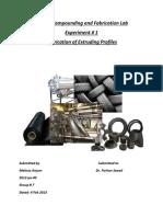 Fabrication of Extruding Profiles