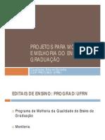 Estrutura Dos Projetos - Melhoria Do Ensino e Monitoria [Modo de Compatibilidade]