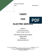 PSEG Electric Tariff March2015