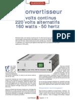 Convertisseur 12v CC Vers 220VAC 160 W