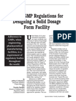 Global GMP Regulations for Designing a Solid Dosage Form Facility