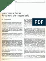 Cien Años de La Facultad de Ingeniería (1832-1988)