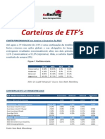 ETF Portfolio  - Carteira de ETF's - Fundos - FEV2015