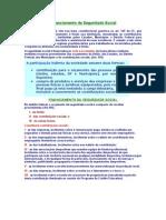 Direito Previdenciário - Financiamento da Seguridade Social