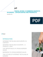 European Digital Divide E-Commerce Markets in Europe Opportunities and Prospects