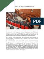 Breve Reseña Historica Del Amparo Constitucional en Venezuela