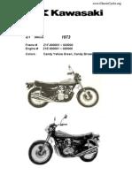 Kawasaki Z1 900 Z900 Illustrated Parts List Diagram Manual 1973