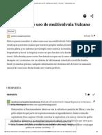 Consulta Sobre Uso de Multivalvula Vulcano - Piscinas - Todoexpertos