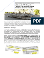 Conflicto laboral en el Ministerio de Carlos Tomada