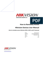 Quick Guide, - How to Remote Access HIKVISION Devices