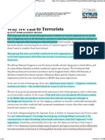 Why We Talk to Terrorists