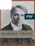 The Letters of Robert Frost Volume 1