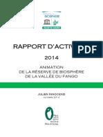 Rapport Activités 2014
