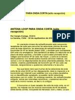 Antena Loop Para Onda Corta