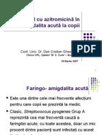 Conf. Univ. Dr. Dan Gheorghe - Medic Primar ORL, Spitalul Clinic de Copii -Marie Curie - Folosire