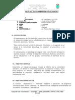 Plan de Trabajo Del Departamento de Psicología 2014-i