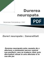 Durerea neuropata