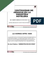 02 - NFPA 1600 y La Continuidad de Los Negocios en La Industria Hotelería (Congreso NFPA México 2014)
