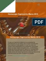 Horóscopo Capricornio Marzo 2015