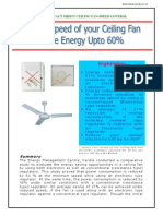 Fan Regulator Energy Savings