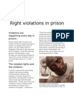 right violations in prisons