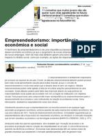 Empreendedorismo_ Importância Econômica e Social - Artigos - Acadêmico - Administradores