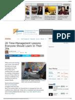 Essential Time-Management Hacks - Business Insider