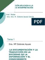 1 Tema+1.La+Doc+y+la+Tradución+en+SI.2014+-2015alumnos