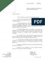 Courrier Olivier Bianchi candidats départementales