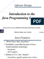 Introduction to the java programming