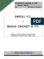 Empoli-Genoa - 26° giornata serie A