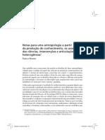 Rohden Notas Para Uma Antropologia a Partir Da Produção Do Conhecimento, Os Usos Das Ciências, Intervenções e Articulações Heterogêneas