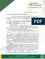 UFABC - Informativo sobre justificativa eleitoral