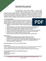 College and Career Development Intern
