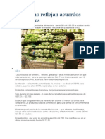 Precios No Reflejan Acuerdos Sectoriales