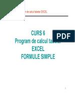Curs 6 S1 - Program de Calcul Tabelar EXCEL