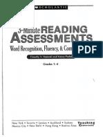 rasinski & padak-3-minute assessment 1-4
