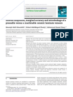 Internal adaptation, marginal accuracy and microleakage of a pressable  versus a machinable ceramic laminate veneers