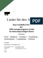 VOLKSLIEDER - Tirol - Südtirol - Österreich - Bayern - Deutschland Liederbuch-Gesamtassung-1- Textesammlung