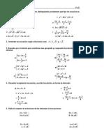 Ejercicios ecuaciones y sistemas 4º eso