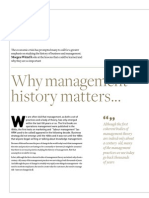 Why Management History Matters