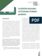 Los Distritos Electorales en El Salvador. El Debate Pendiente. Análisis Políticos. Octubre 2014