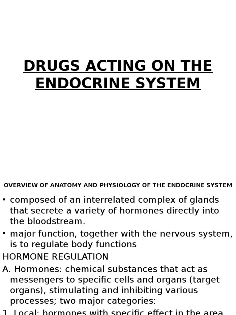 Drugs Acting on the Endocrine System | Thyroid | Glands