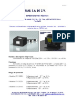 Espec Tecnicas - Convertidores CV