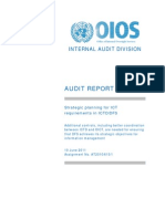 Audit Report - Strategic planning for ICT requirements in ICTD/DFS