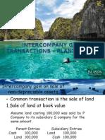 Intercompany Gain Transactions – Plant Assets