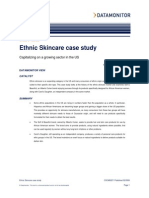 Ethnic Skincare Case Study- Capitalizing on a Growing Sector in the US